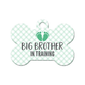 Big Brother in Training Bone Pet ID Tag