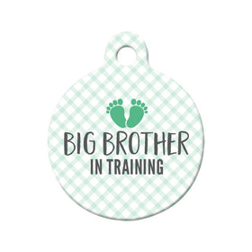 Big Brother in Training Circle Pet ID Tag