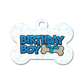 Birthday Boy Bone Pet ID Tag
