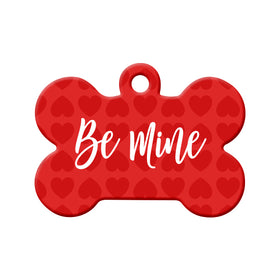 Be Mine Valentine's Day Bone Pet ID Tag