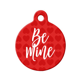Be Mine Valentine's Day Circle Pet ID Tag