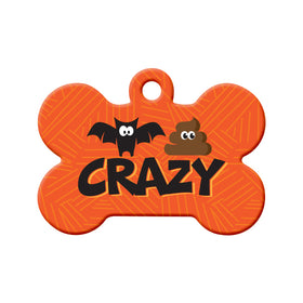 Bat Shit Crazy Bone Pet ID Tag