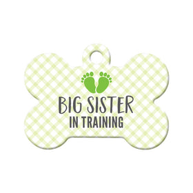 Big Sister in Training Bone Pet ID Tag