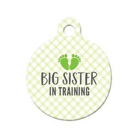 Big Sister in Training Circle Pet ID Tag