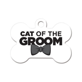 Cat of the Groom Bone Pet ID Tag