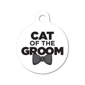 Cat of the Groom Circle Pet ID Tag