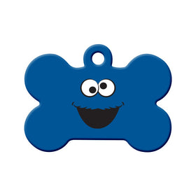 Cookie Monster Fan Art Bone Pet ID Tag