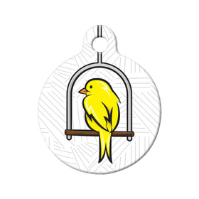 Canary Swing Circle Pet ID Tag