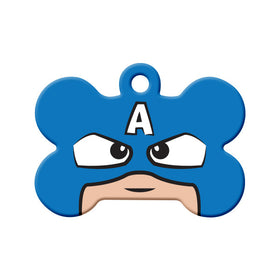 Captain America Fan Art Design Bone Pet ID Tag