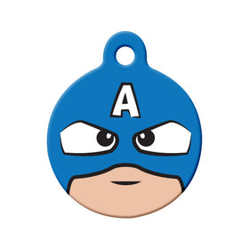 Captain America Fan Art Design Circle Pet ID Tag