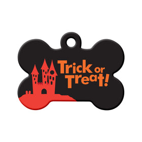 Trick or Treat Bone Pet ID Tag