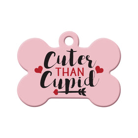 Cuter than Cupid Bone Pet ID Tag