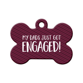 Engagement Announcement (Dads) Bone Pet ID Tag