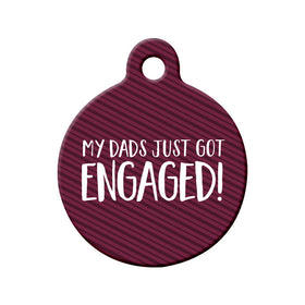 Engagement Announcement (Dads) Circle Pet ID Tag