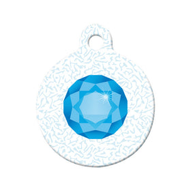 December Birthstone Circle Pet ID Tag
