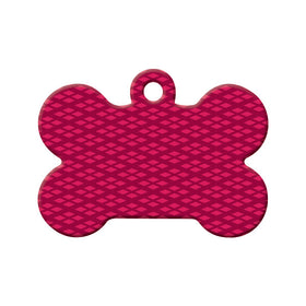 Diamond Pattern Bone Pet ID Tag