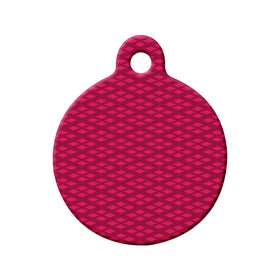 Diamond Pattern Circle Pet ID Tag