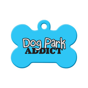 Dog Park Addict Bone Pet ID Tag