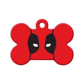 Deadpool Fan Art Design Bone Pet ID Tag