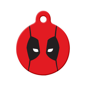 Deadpool Fan Art Design Circle Pet ID Tag