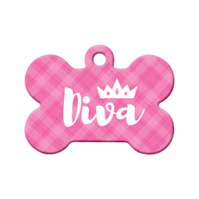 Diva Bone Pet ID Tag