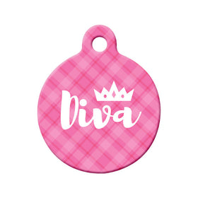 Diva Circle Pet ID Tag