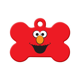 Elmo Fan Art Bone Pet ID Tag