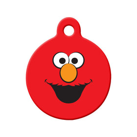 Elmo Fan Art Circle Pet ID Tag