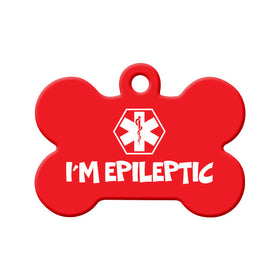 I'm Epileptic Bone Pet ID Tag