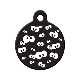 Halloween Spooky Eyes in the Dark Circle Pet ID Tag