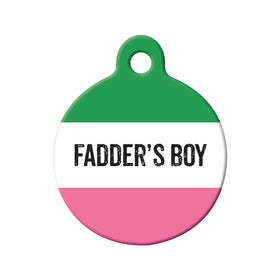Fadder's Boy Republic of NL Circle Pet ID Tag
