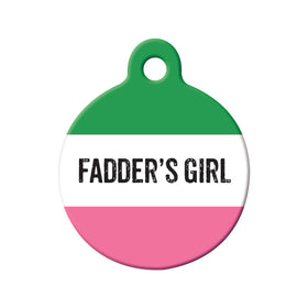 Fadder's Girl Republic of NL Circle Pet ID Tag