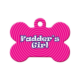 Newfoundland Fadder's Girl Bone Pet ID Tag