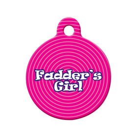 Newfoundland Fadder's Girl Circle Pet ID Tag