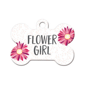 Flower Girl Bone Pet ID Tag