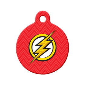 The Flash Fan Art Circle Pet ID Tag