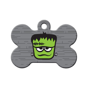 Frankenstein Bone Pet ID Tag