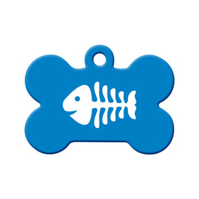 Fish Bone for Cat's Circle Pet ID Tag