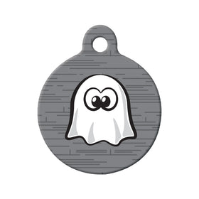 Cartoon Ghost Circle Pet ID Tag