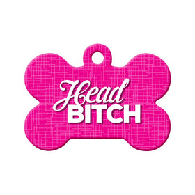 Head Bitch Bone Pet ID Tag