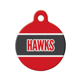 Hockey Jersey Circle Pet ID Tag
