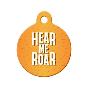 Hear Me Roar Bone Pet ID Tag