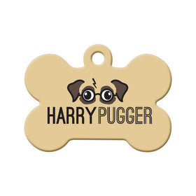 Harry Pugger Bone Pet ID Tag