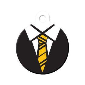 Hufflepuff Uniform Circle Pet ID Tag