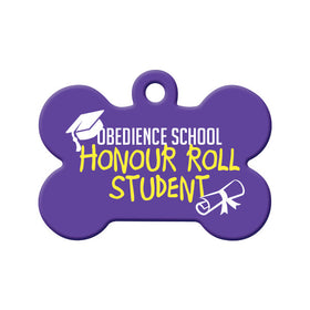 Honour Roll Student Bone Pet ID Tag