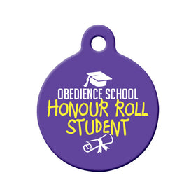 Honour Roll Student Circle Pet ID Tag