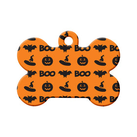 Halloween Pattern Bone Pet ID Tag