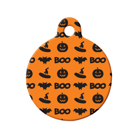 Halloween Pattern Circle Pet ID Tag