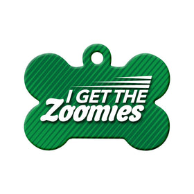 Zoomies Bone Pet ID Tag