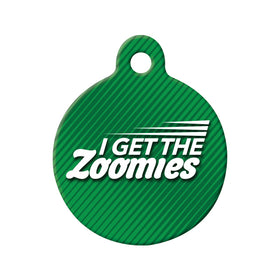Zoomies Circle Pet ID Tag